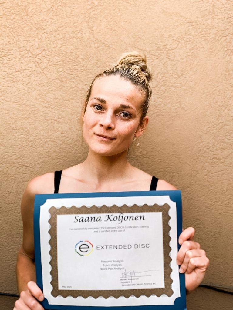 Saana Koljonen Certified Extended DISC Trainer